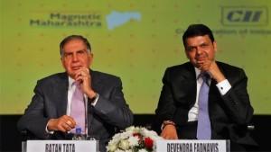 Mr Ratan Tata, Chairman, Tata Trust and Chief Minister of Maharashtra, Mr Devinder Fadnavis in a file photo.