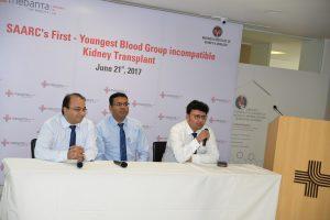 Right to left - Dr. Sidharth Sethi, Dr. Shyam Bansal & Dr. Prasun Ghosh