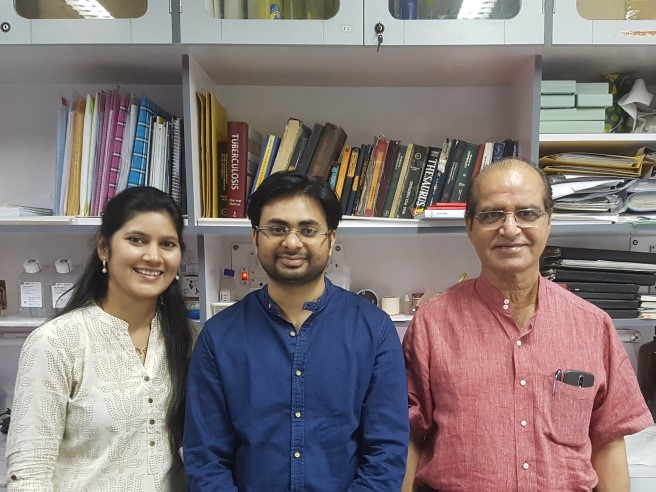 Prof. Anil K. Tyagi (right) with fellow researchers.