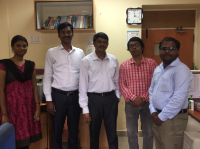 Dr V V Rao (in the middle) with Nutrition Atlas team.