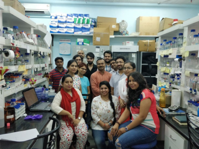 Dr Gourinath (in centre) with team of researchers.