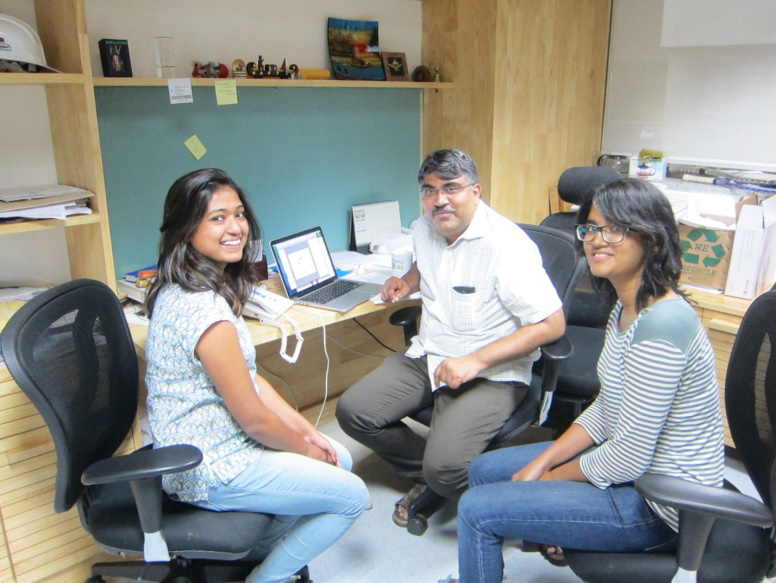 Dr Dasaradhi Palakodeti with his team members. Image : Dhiru Bansal