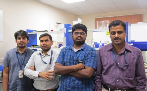 Dr Srinandan (extreme right) with research team.