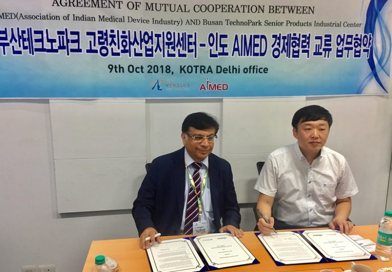 AIMED & BUSAN TECHNOPARK ink MoU to promote Indian & Korean medical
